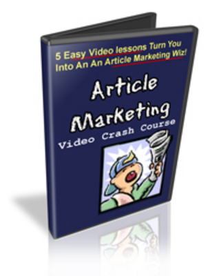 Product picture Article Marketing Video Crash Course